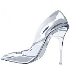 Glass slipper vector