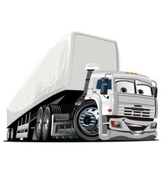 Cartoon semi truck vector