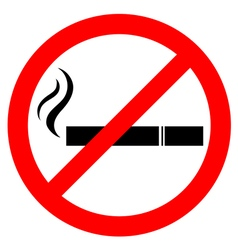 Prohibiting smoking sign vector