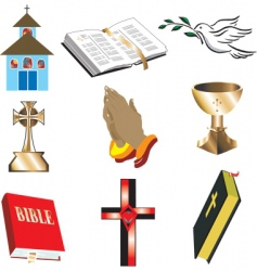 Church icons vector