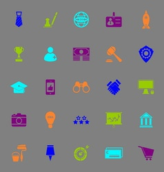 Sme color icons on gray background vector