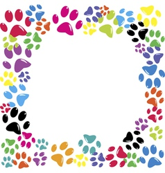 Animal paws vector