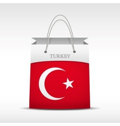 Shopping bag with turkey flag vector
