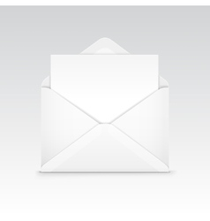 White blank envelope isolated vector