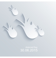 Modern asteroid day background vector