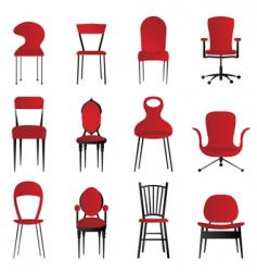 Red chairs vector