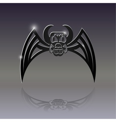 Sign of the bat tattoo vector