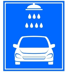 Icon with car washing vector