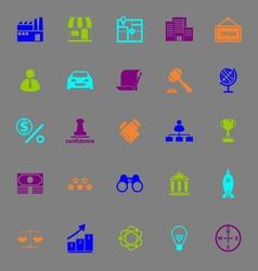 Franchise color icons on gray background vector