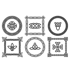 Celtic knots frames vector