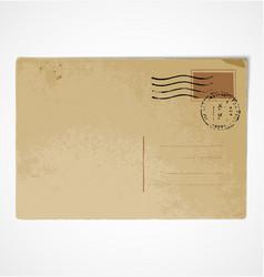 Old vintage postcard back vector