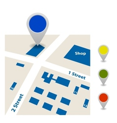 Scheme of the streets and signs vector