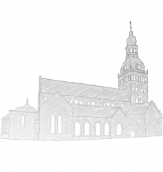 Riga dome church vector