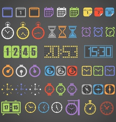 Different color measuring stuff collection vector