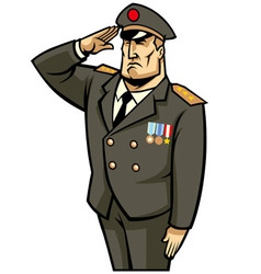 Soldier salute vector