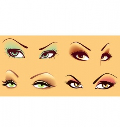 Women's eyes vector