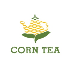 Icon teapot from corn vector
