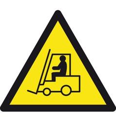 Danger forklift trucks safety sign vector