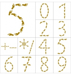 Footprints figures and signs vector