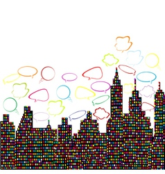 Abstract colored city vector