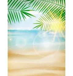 Vintage seaside view poster vector