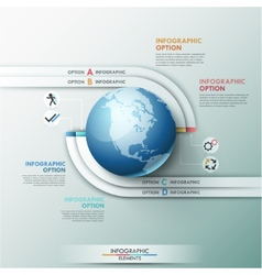 Modern infographic options banner vector