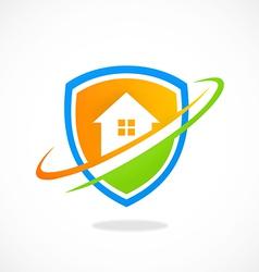 Home shield protection logo vector