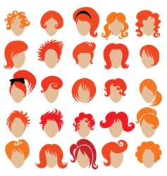 Red hair styling vector