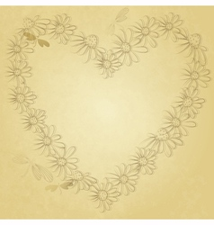 Old valentine paper vector