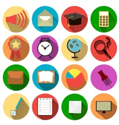 Business and school of icons vector