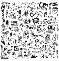 Music - doodles collection vector