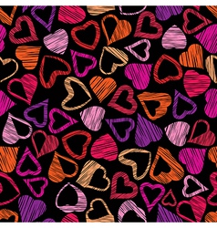 Hears seamless pattern love valentine and wedding vector