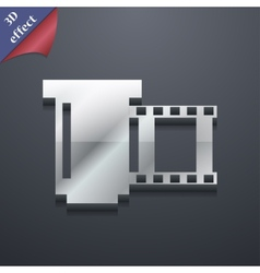 Negative films icon symbol 3d style trendy modern vector