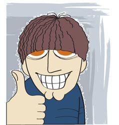 Man with thumb up vector