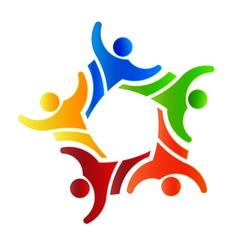 Winner group people 4 logo design element vector