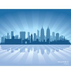 Mumbai india city skyline silhouette vector