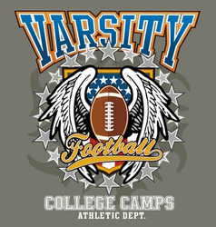 American football college vector