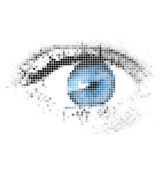 Digital eye vector