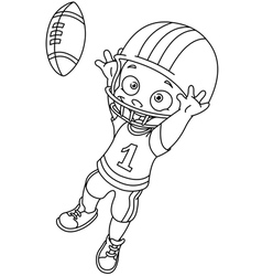 Outlined football kid vector