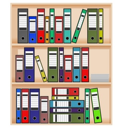 Office shelf vector