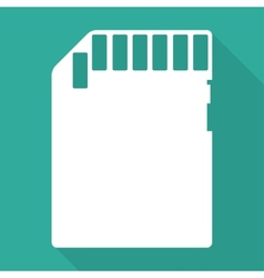 Compact memory card icon vector