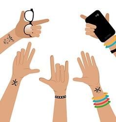 Hands design vector