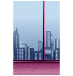 Interior cityscape view vector