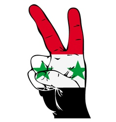 Peace sign of the syrian flag vector