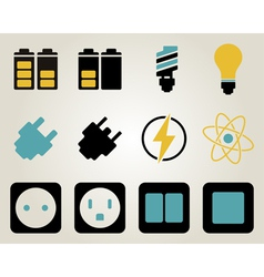 Icon set twelve vector
