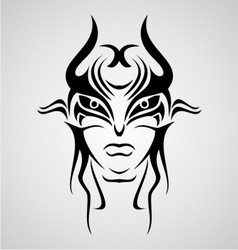 Mask tribal vector
