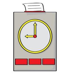 Punch clock vector