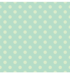 Seamless green polka dots pattern or background vector
