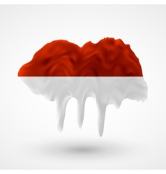 Flag of indonesia painted colors vector