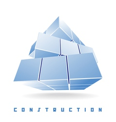 Construction cube vector